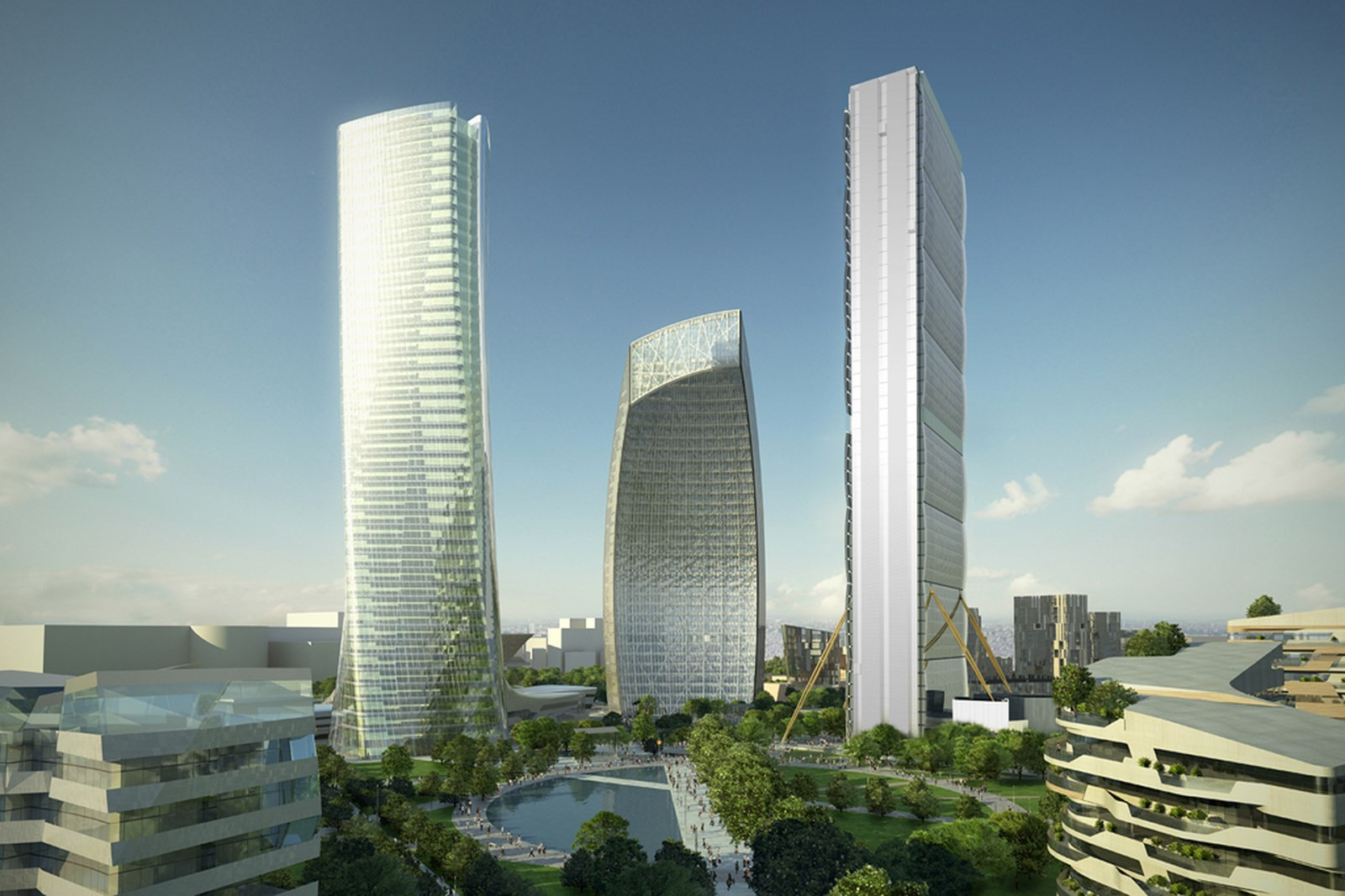 Citylife Tower | Arata Isozaki and Andrea Maffei