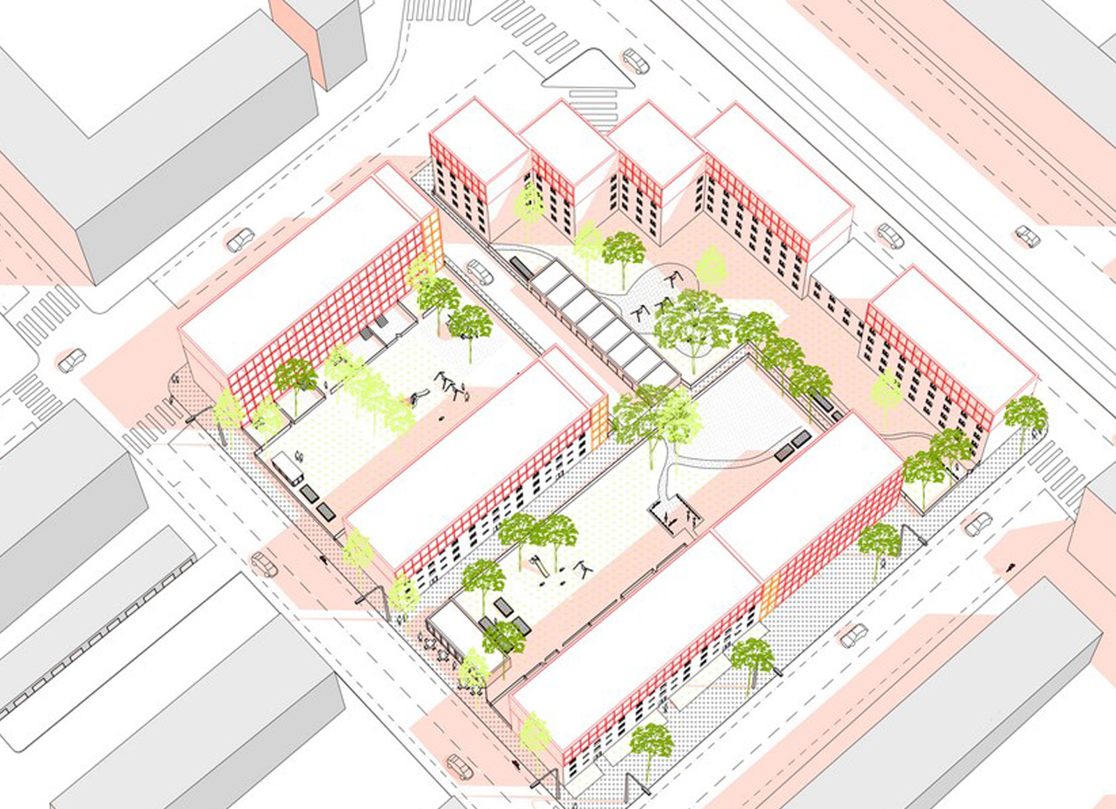 Densify Housing Rows – Optimize Urban Space by Franziska Niepenberg | International Residential Architecture Awards 2019