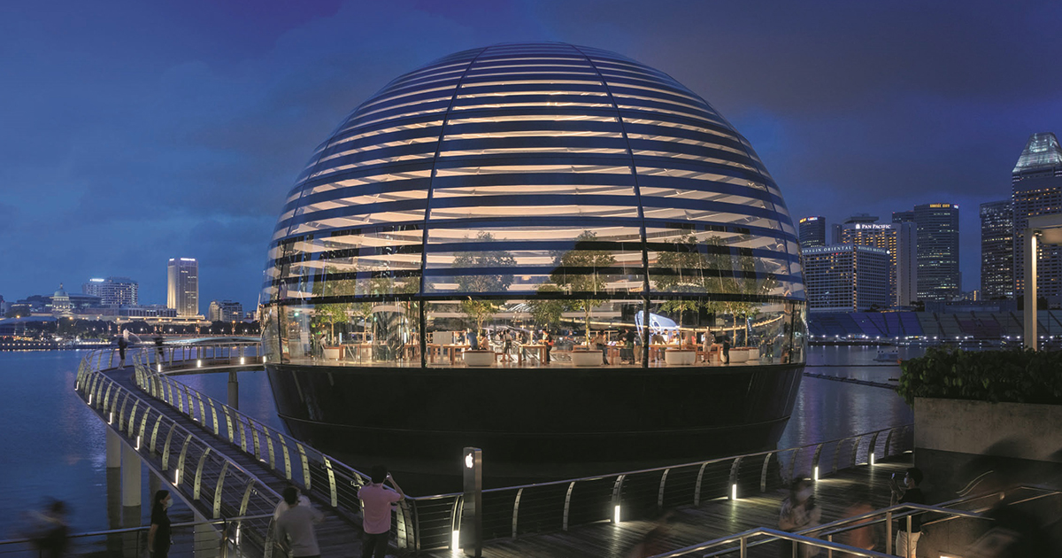 Apple Marina Bay Sands || Foster + Partners || Architect of the Year Awards 2020